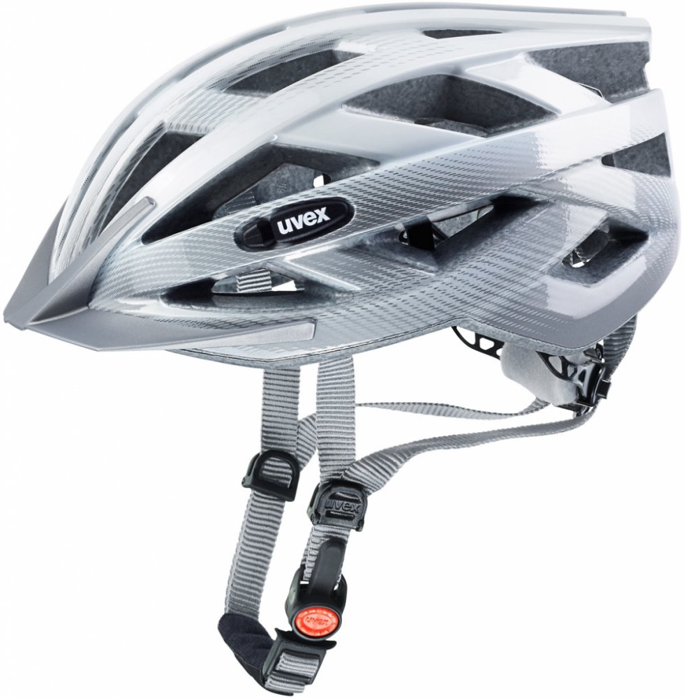 Cyklistická přilba UVEX I-VO C, 2016 WHITE-SILVER (pro obvod hlavy 55-60 cm, model 2016)