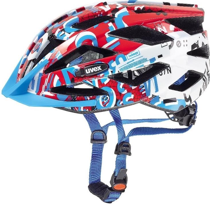 Cyklistická přilba UVEX AIR WING, 2017 WHITE-RED (pro obvod hlavy 52-57 cm, 2017)