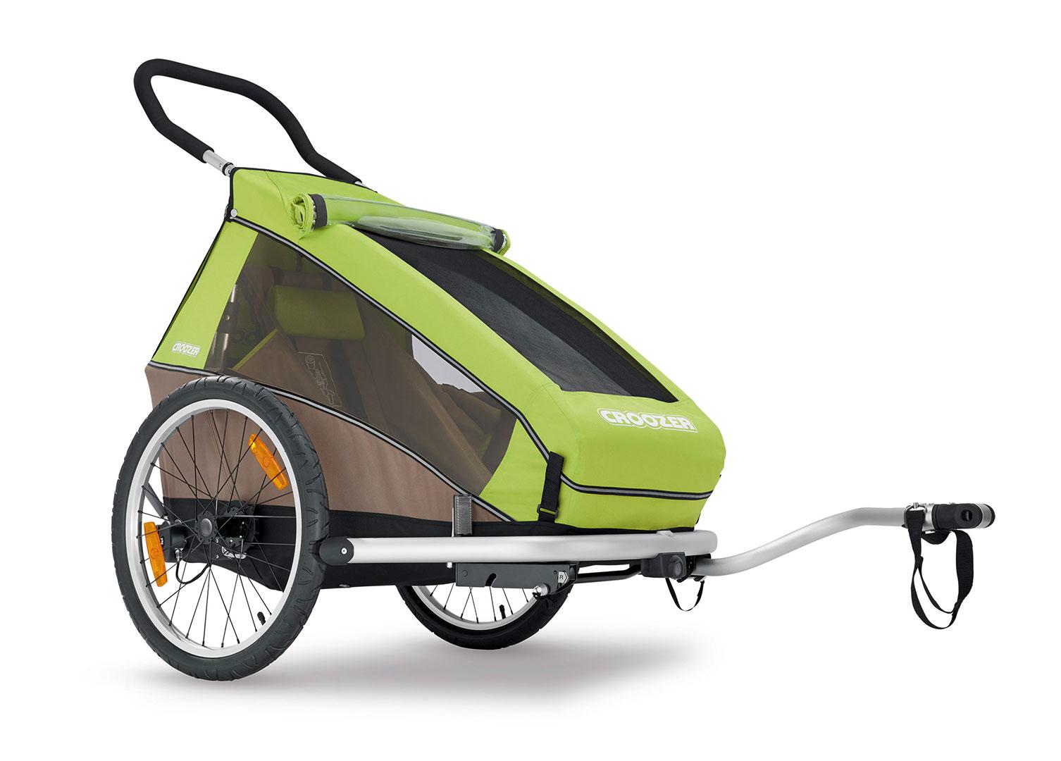CROOZER KID FOR 1 Click & Crooz, 2016 - ZDARMA dopravné (Cyklovozík CROOZER KID FOR 1 Click & Crooz, model 2016, barva zelená, bez odpružení)