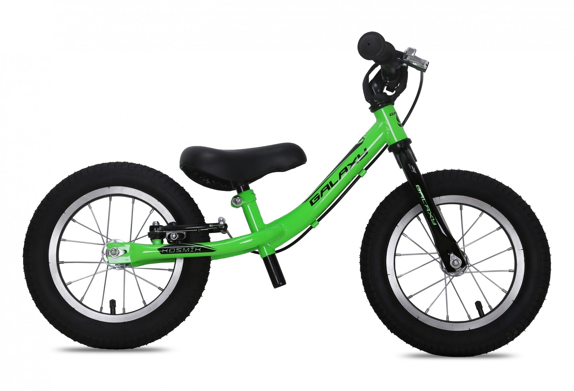Odrážedlo GALAXY KOSMÍK zelená 2016, ZDARMA dopravné! (barva zelená, s brzdou, nafukovací pneu)