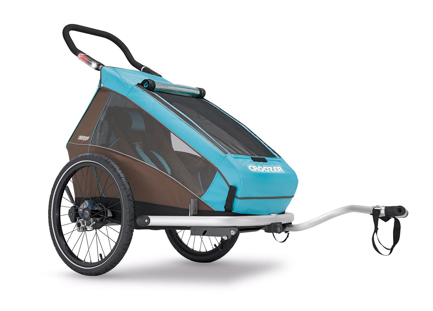 CROOZER KID FOR 1 PLUS Click & Crooz, 2016 - ZDARMA dopravné (Cyklovozík CROOZER KID FOR 1 PLUS Click & Crooz, model 2016, barva modrá, odpružený)