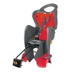 Cyklosedačka Bellelli MR Fox Relax B-fix šedo-červená - zdarma reflexní pásek (Dětská zadní polohovací sedačka na kolo od tradičního italského výrobce Bellelli, model 2016)