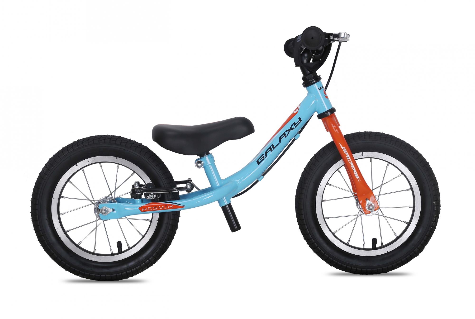 Odrážedlo GALAXY KOSMÍK modro-oranžové 2016, ZDARMA dopravné! (barva modro-oranžová, s brzdou, nafukovací pneu)