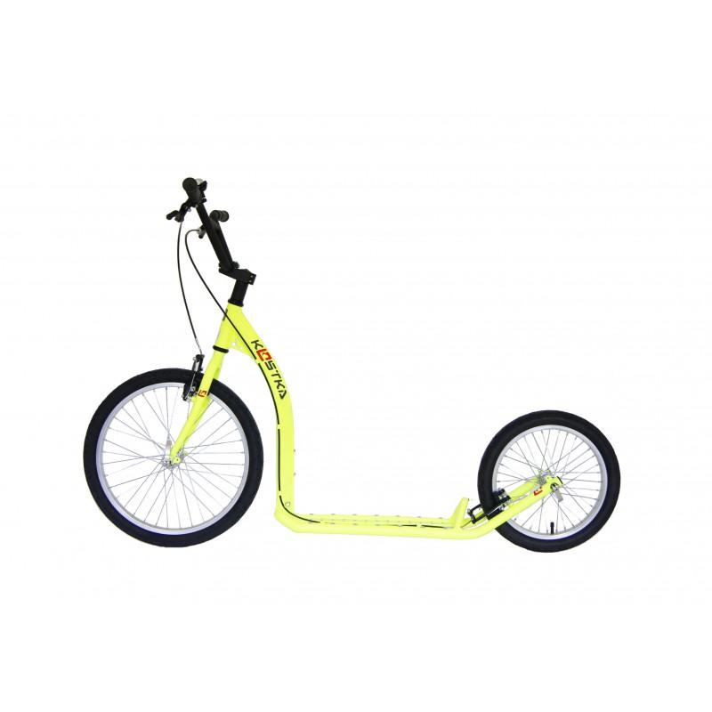 Koloběžka KOSTKA Hill Fun, žlutá reflexní - ZDARMA dopravné (Nakupujte u autorizovaného prodejce KOSTKA!)