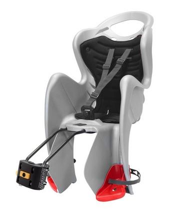 Cyklosedačka Bellelli MR Fox STANDARD B-FIX stříbrno-černá - SLEVA (Dětská zadní sedačka na kolo od tradičního italského výrobce Bellelli)