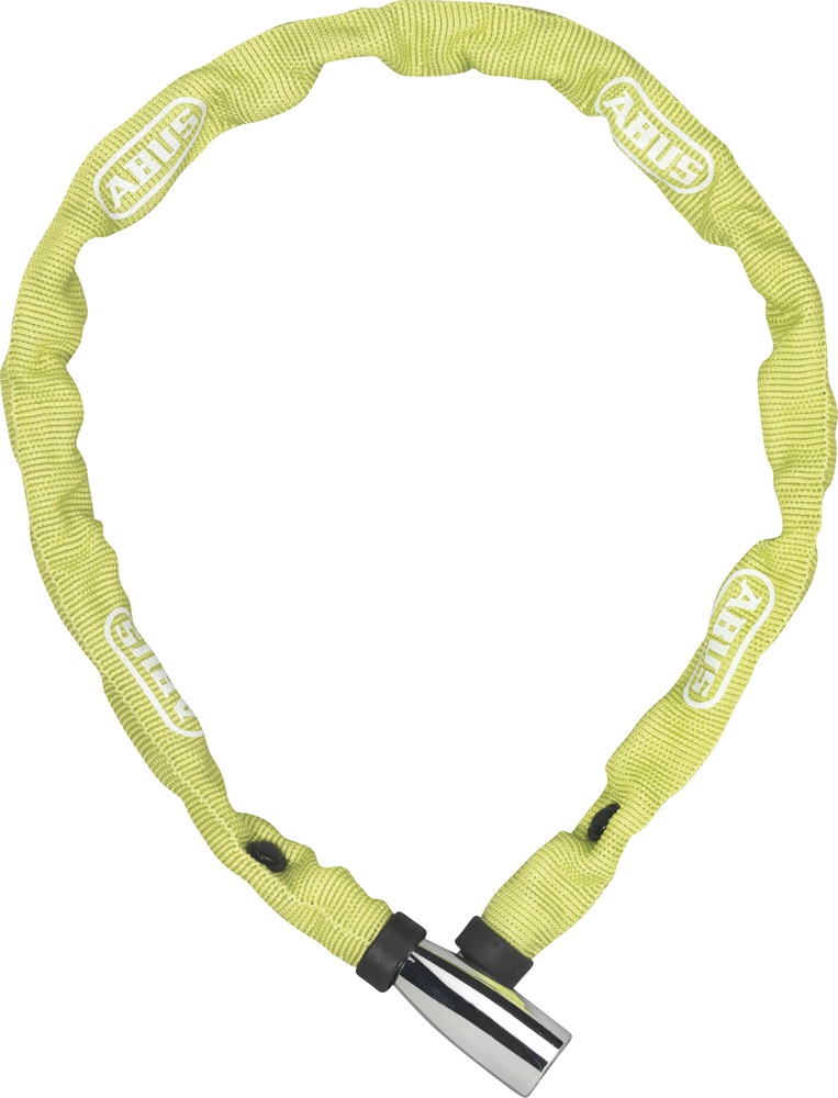 Řetězový zámek ABUS 1500 Web, 110 cm, barva limetková (Zámek na kolo, délka 110 cm)