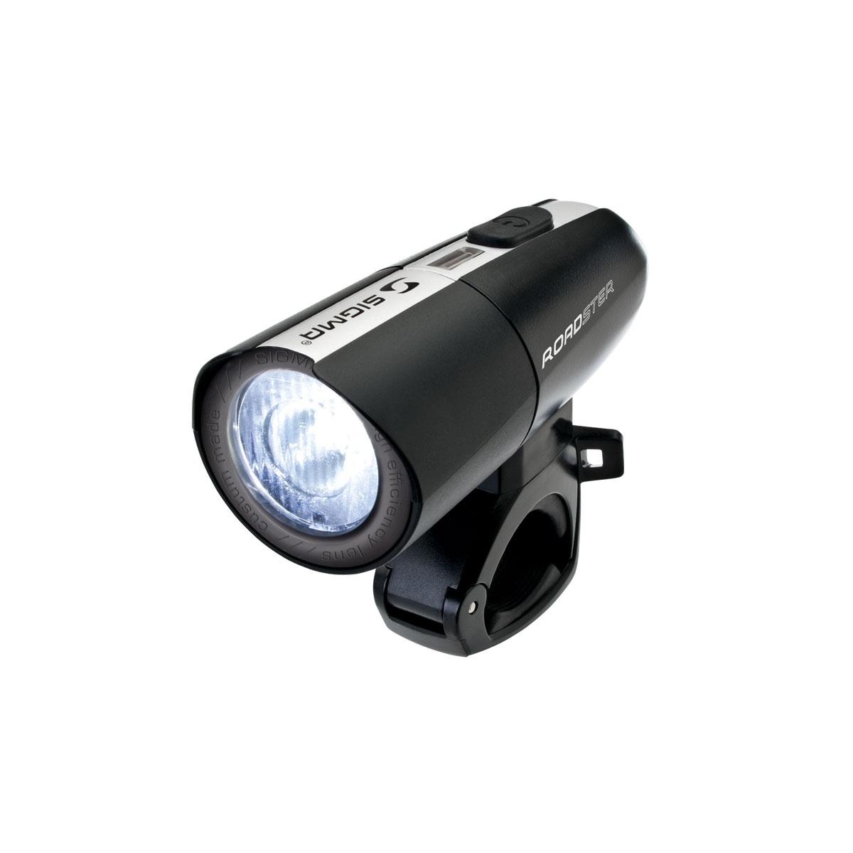 Přední světlo SIGMA ROADSTER (světlo na kolo přední, barva černá)