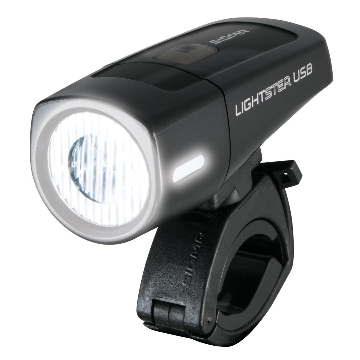 Přední světlo SIGMA LIGHTSTER USB 25 LUX (světlo na kolo přední, barva černá)