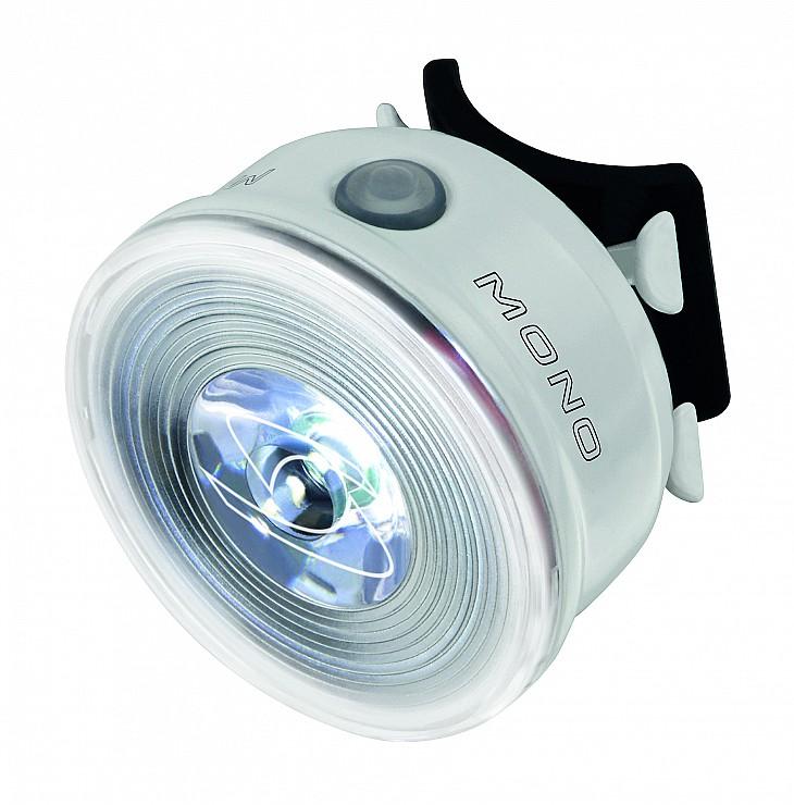 Zadní světlo SIGMA MONO RL, bílé (světlo na kolo - blikačka zadní, barva bílá)
