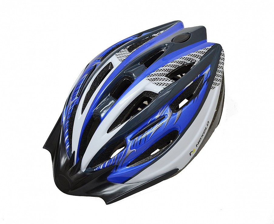 NEXELO cyklistická přilba PHOBOS modro-bílá M 55-58 cm 2016