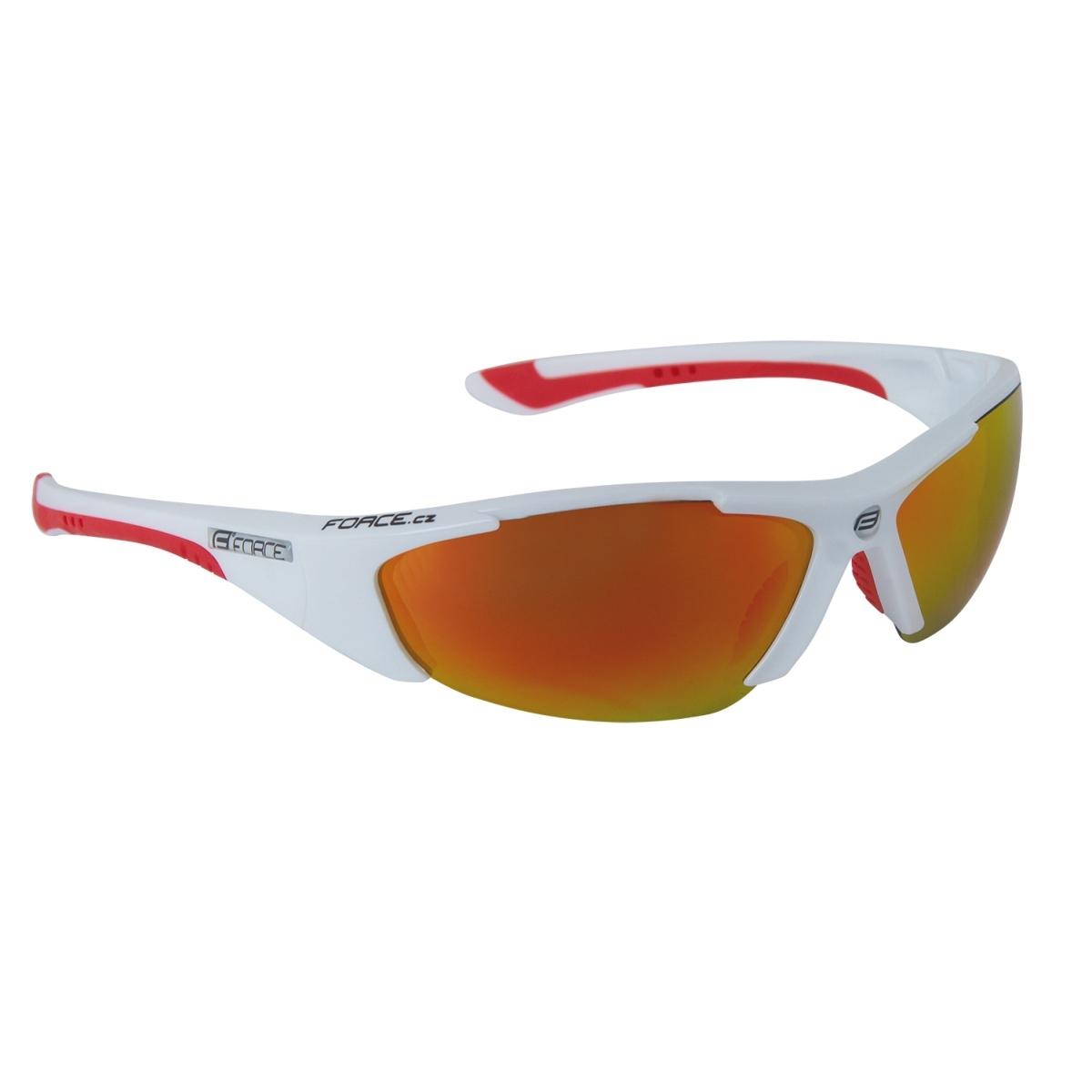 Brýle FORCE LADY bílé, červená skla (Dámské cyklistické brýle)