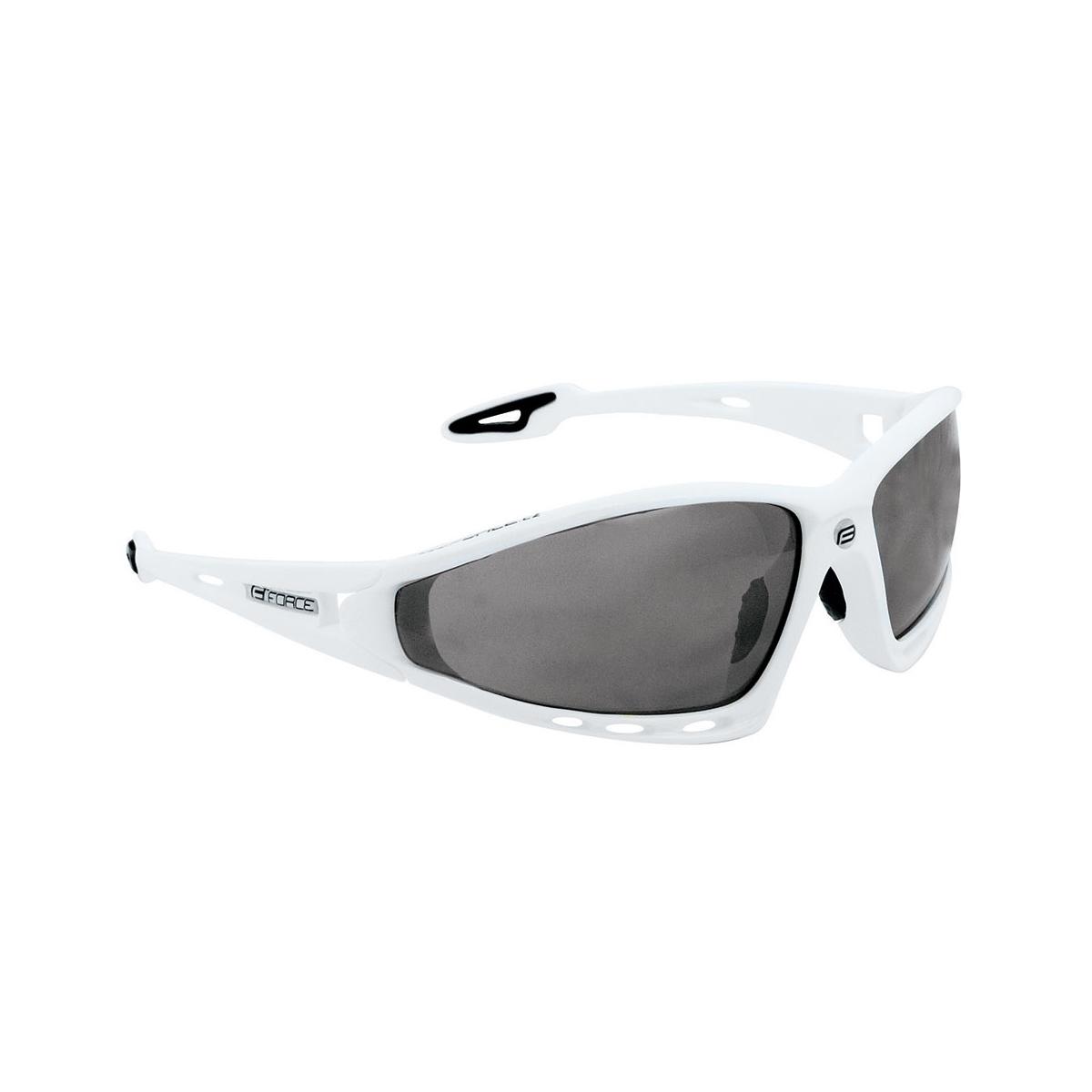 Brýle FORCE PRO bílé, černá laser skla (sportovní brýle)