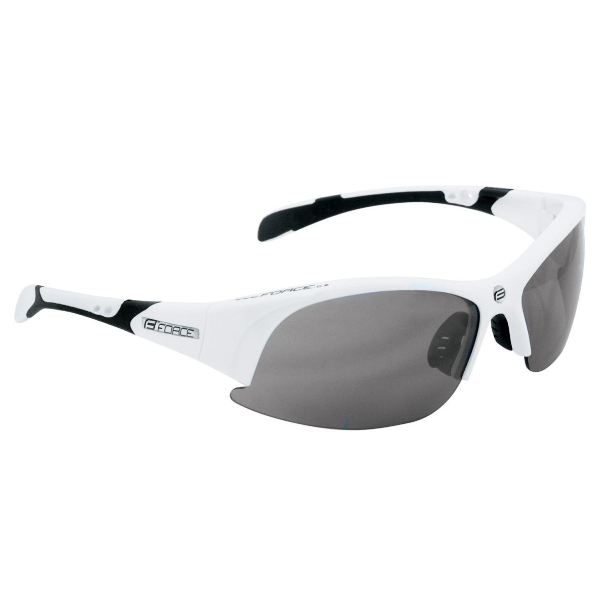 Brýle FORCE ULTRA bílé, černá laser skla (sportovní brýle)
