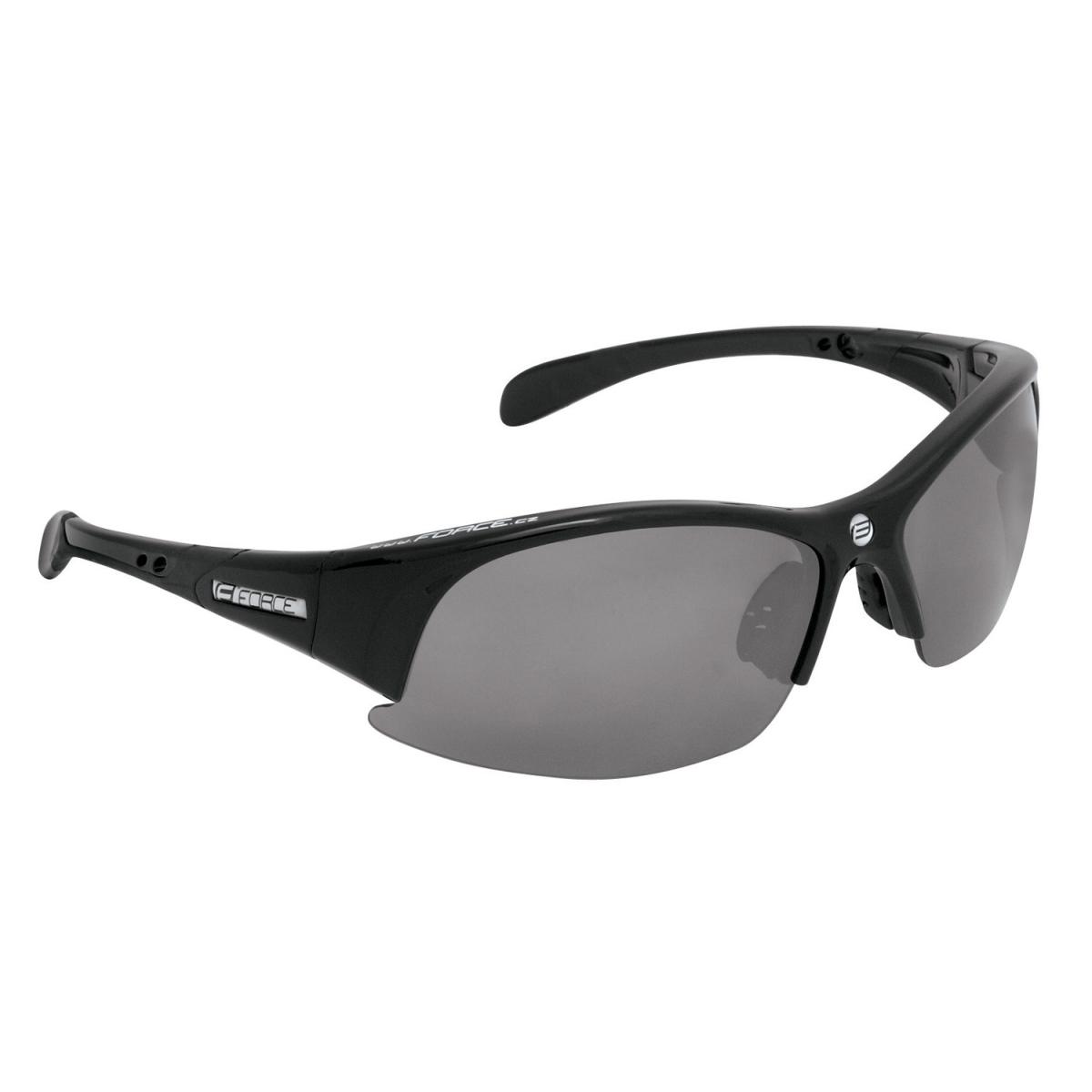 Brýle FORCE ULTRA černé, černá laser skla (sportovní brýle)