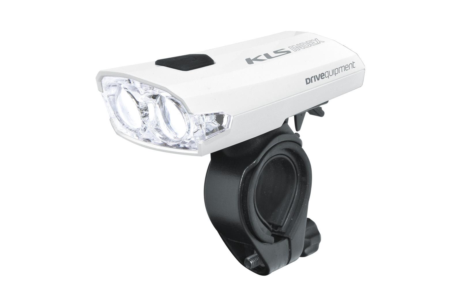 Světlo přední dobíjecí KLS INDEX 016 F, white (přední světlo KLS INDEX, dobíjecí, barva bílá)