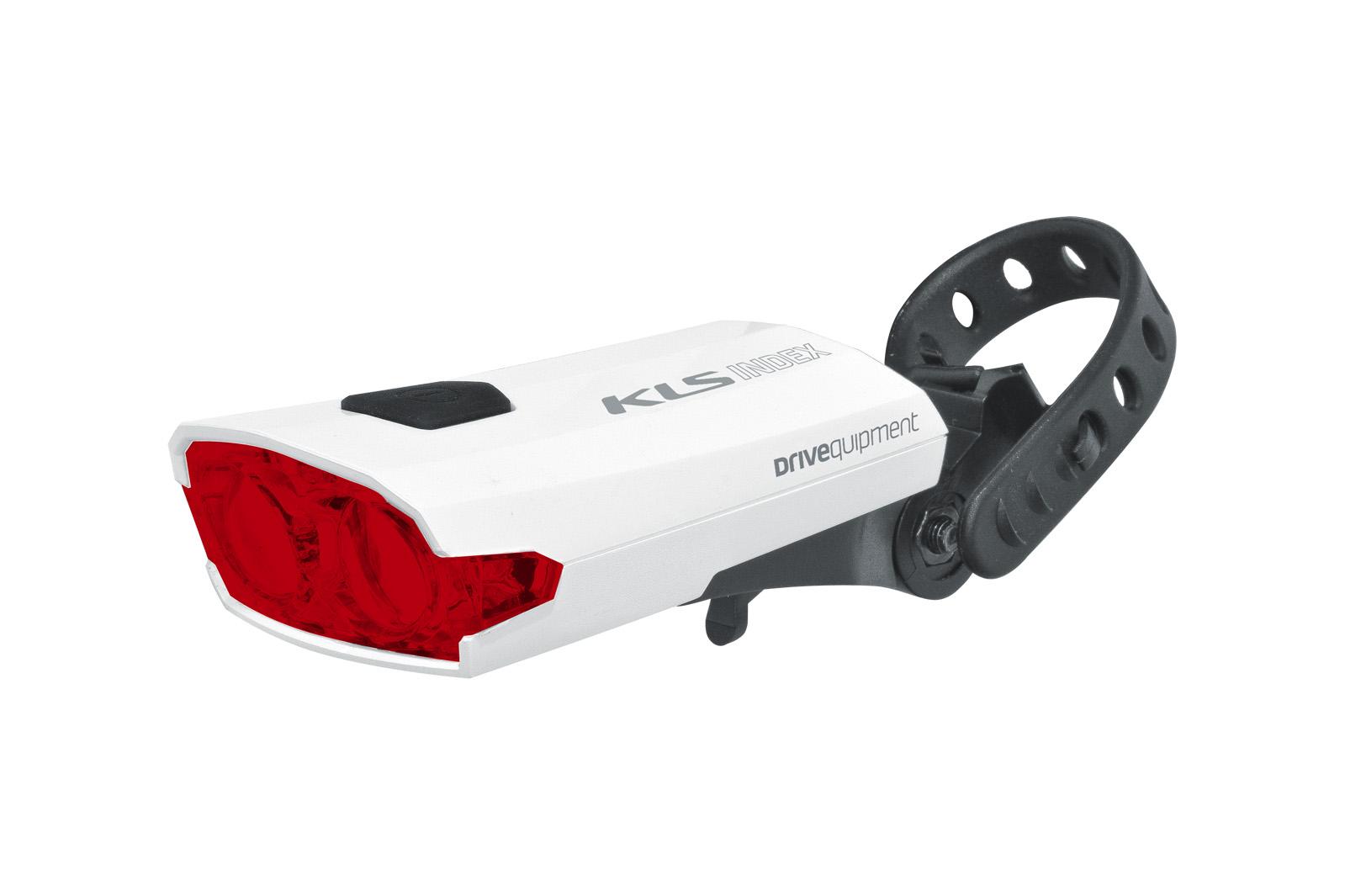 Světlo zadní dobíjecí KLS INDEX 016 R, white (zadní světlo KLS INDEX, dobíjecí, barva bílá)
