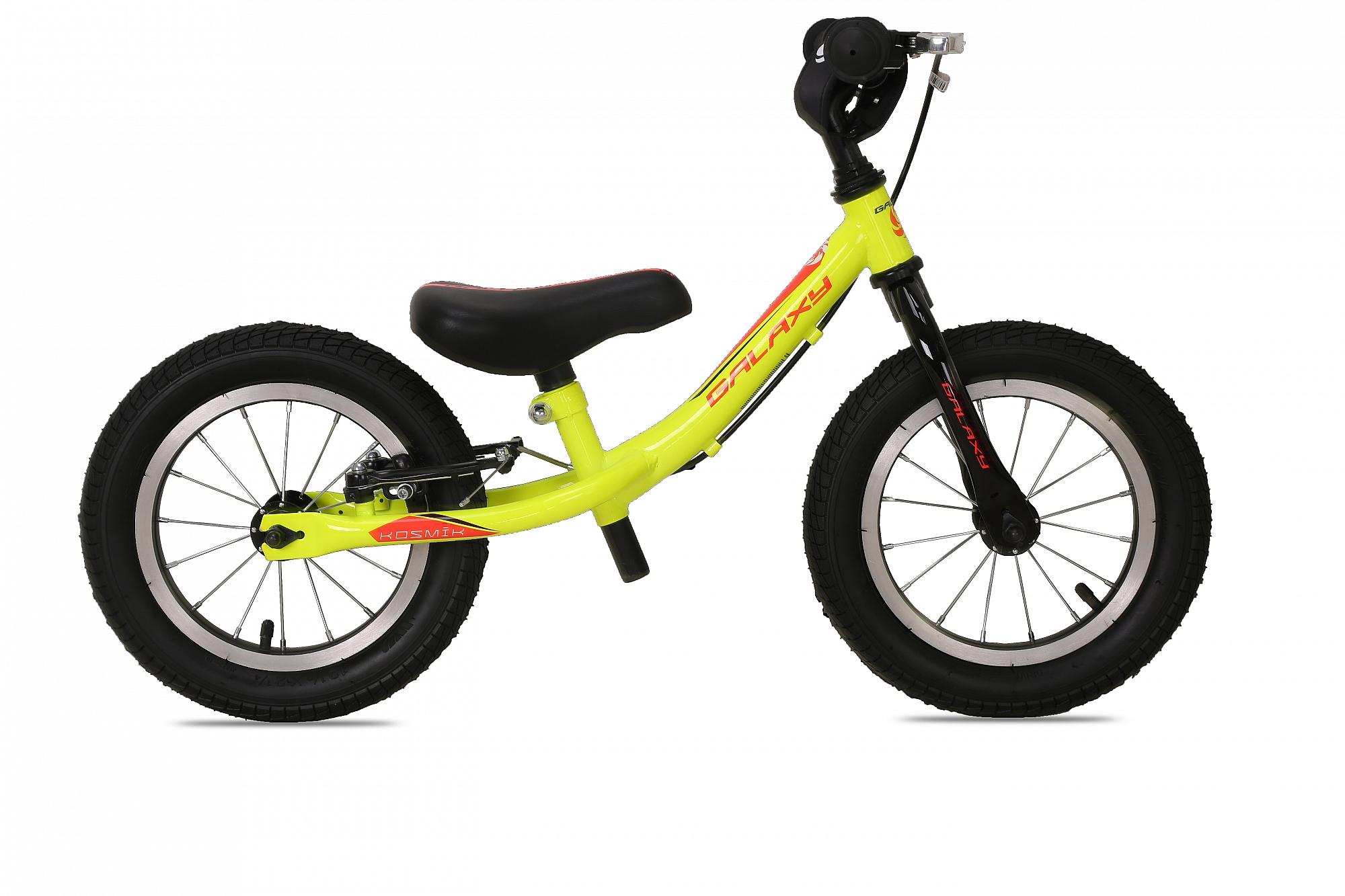 Odrážedlo GALAXY KOSMÍK žlutá 2016, ZDARMA dopravné! (barva žlutá, s brzdou, nafukovací pneu)