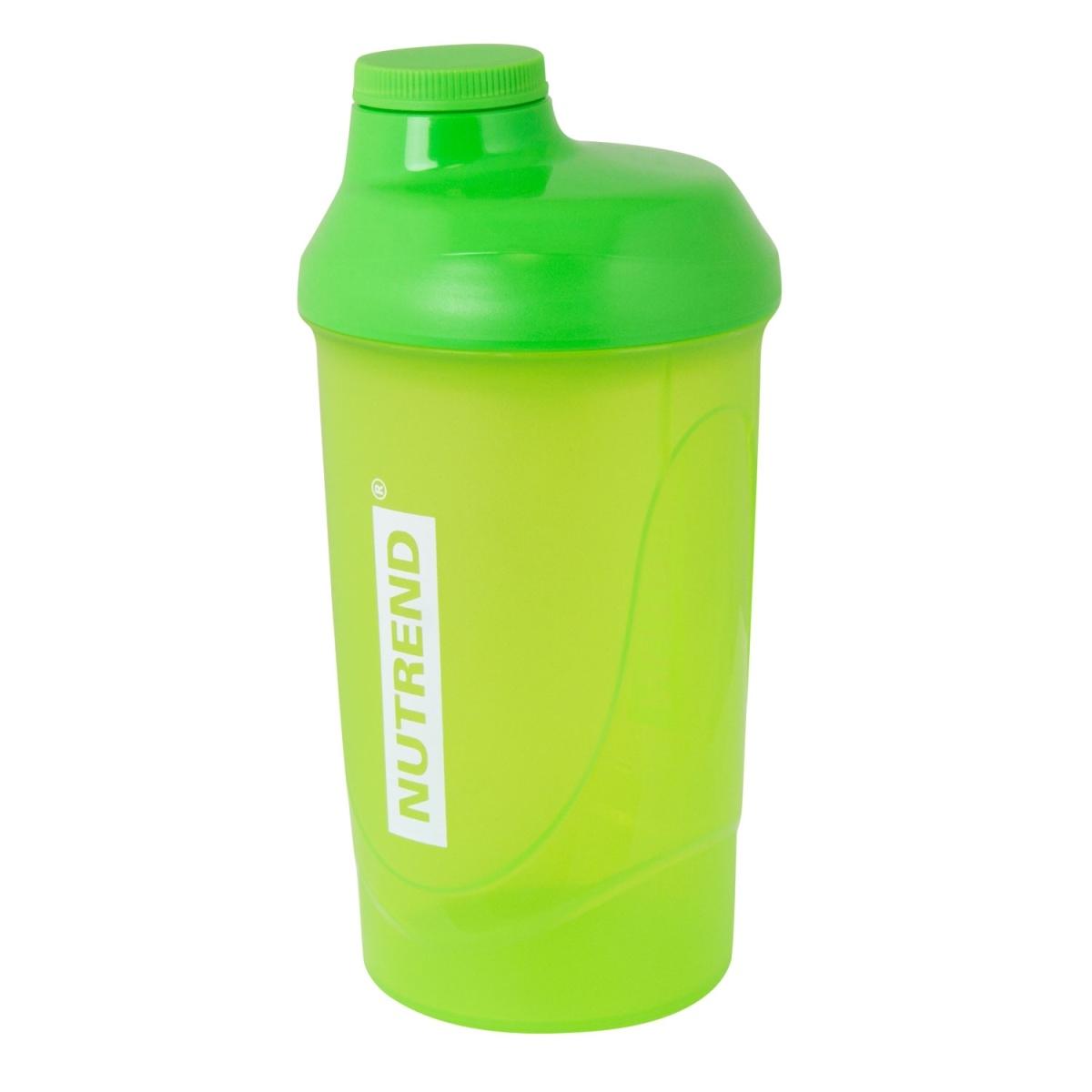 Láhev-šejkr NUTREND 0,6 l, zelený (Zelený šejkr NUTREND s objemem 0,6 litru pro přípravu koktejlů)