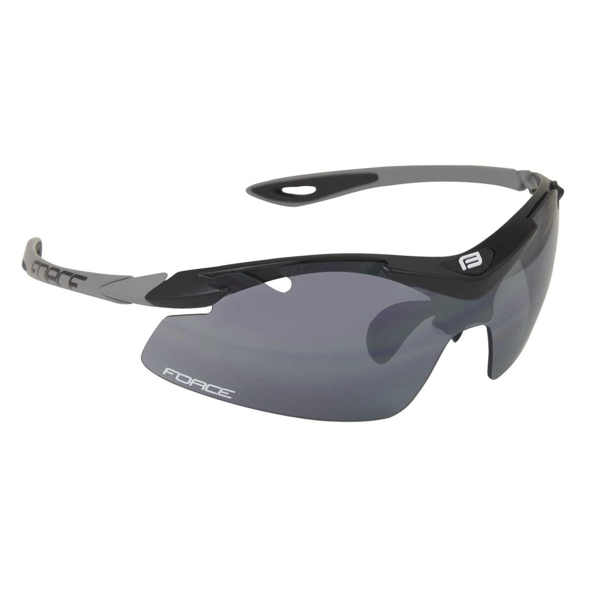 Brýle FORCE DUKE černé, černá laser skla (Sportovní brýle )