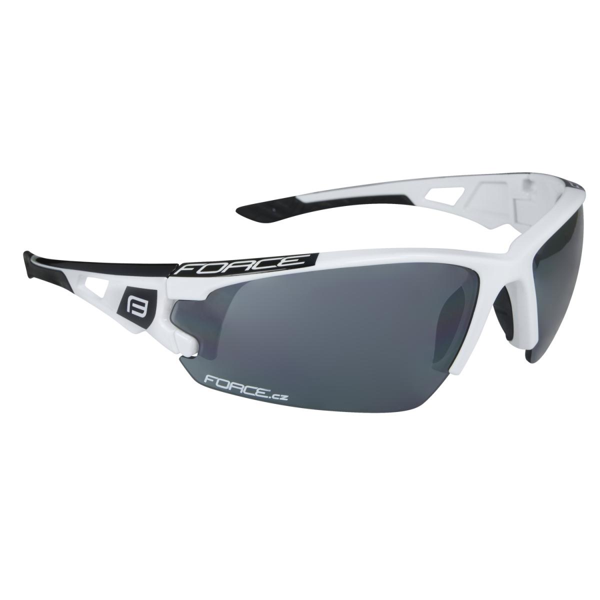 Brýle FORCE CALIBRE bílé, černá laser skla (Sportovní brýle )