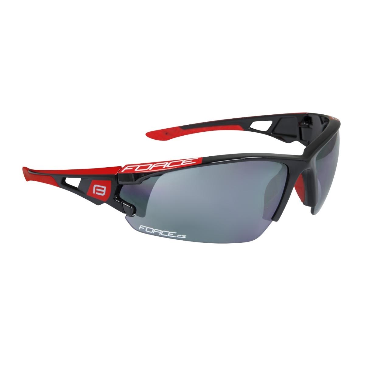 Brýle FORCE CALIBRE černo-červené, černá laser skla (Sportovní brýle )