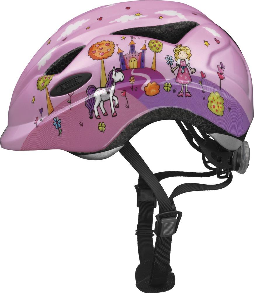 """Dětská cyklistická přilba-helma ABUS Anuky Princess, vel. S (Velikost """"S"""" pro obvod hlavy 46-52 cm, barva růžovo-fialová) - 2013"""