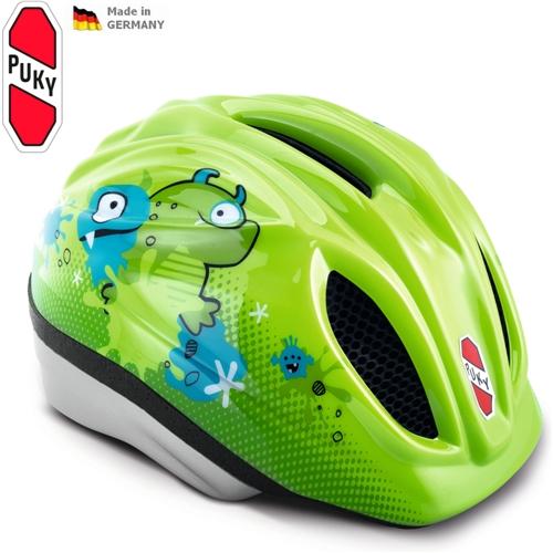Dětská cyklistická přilba - helma PUKY, zelená vel. 46 až 51 cm (Velikost S/M, pro obvod hlavy 46 až 51 cm) - 2013