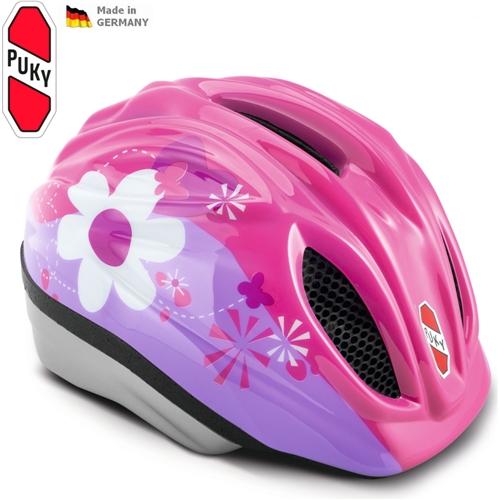 Dětská cyklistická přilba - helma PUKY, růžová, vel. 46 až 54 cm (Velikost S/M, pro obvod hlavy 46 až 54 cm) - 2013