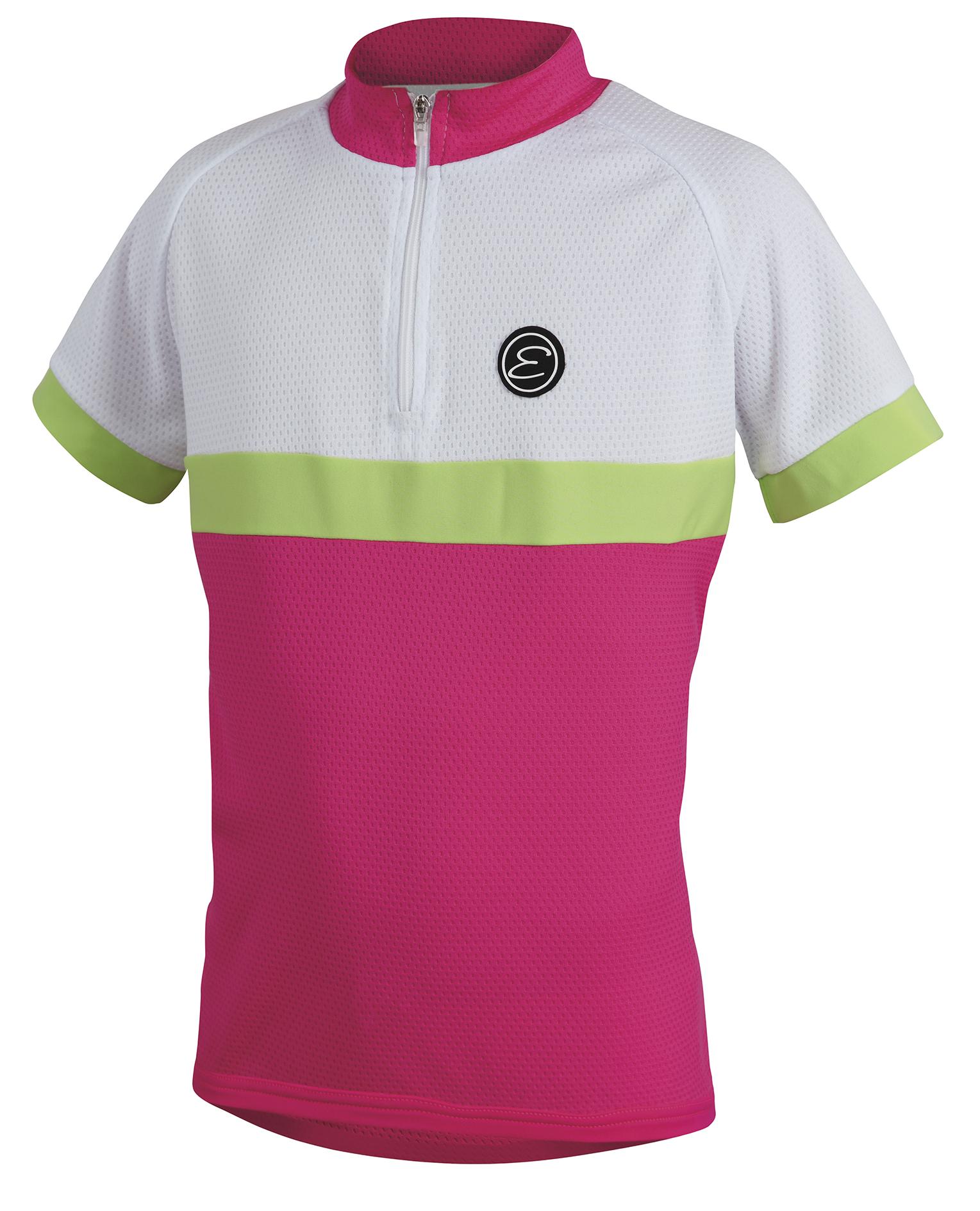 Dětský cyklistický dres ETAPE Bambino, 128/134, růžová/bílá, model 2017 (Dětský dres Etape, přední zip)