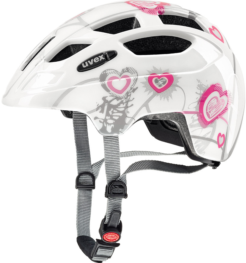 UVEX FINALE JUNIOR LED, 2017 HEART WHITE PINK