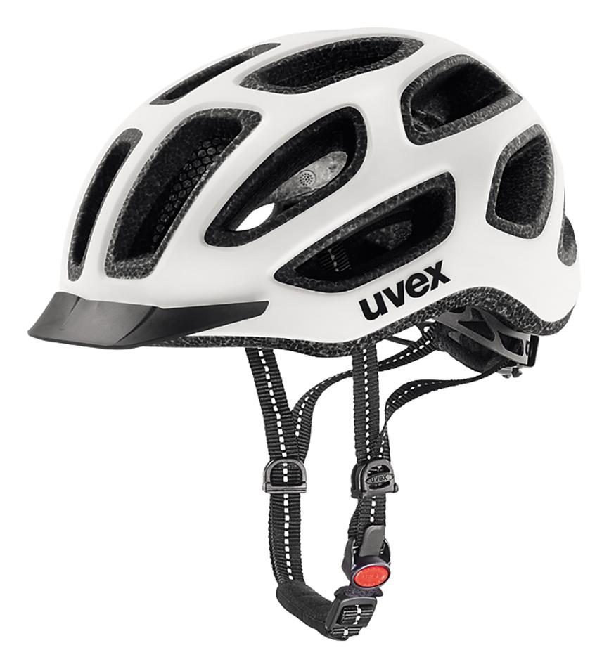 UVEX Cyklistická přilba CITY E, 2017 bílo černá mat 57-61 cm 2017