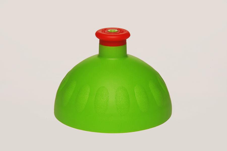 Náhradní víčko komplet Zdravá lahev - zeleno-červené (Náhradní víčko pro Zdravou lahev, barva zelená-červená zátka)