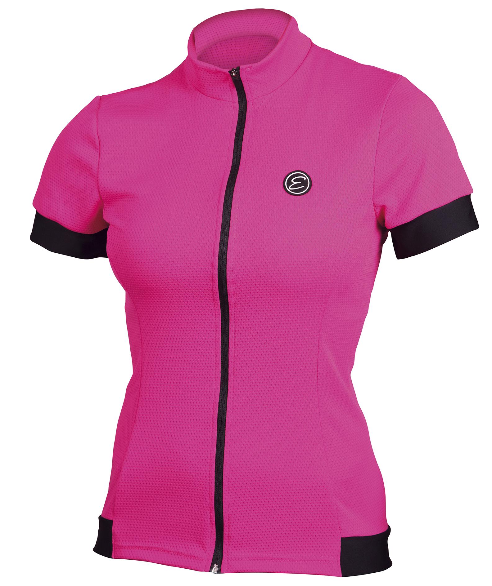 Dámský cyklistický dres ETAPE Donna, vel. S, růžová, model 2017 (Dámský dres Etape, dlouhý přední zip)