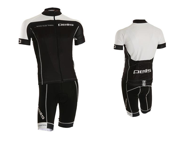 Pánský dres PELL'S WHO ELSE, vel. M, bílá, krátký rukáv (Pánský cyklistický dres PELL'S, vel. M, krátký rukáv, barva bílá/černá dle vyobrazení!)