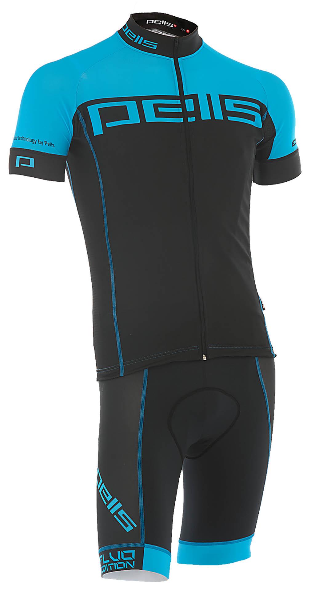 Pánský dres PELL'S FLUO, vel. M, modrá, krátký rukáv - ZDARMA DOPRAVNÉ! (Pánský cyklistický dres PELL'S, vel. M, krátký rukáv, barva modrá dle vyobrazení!)