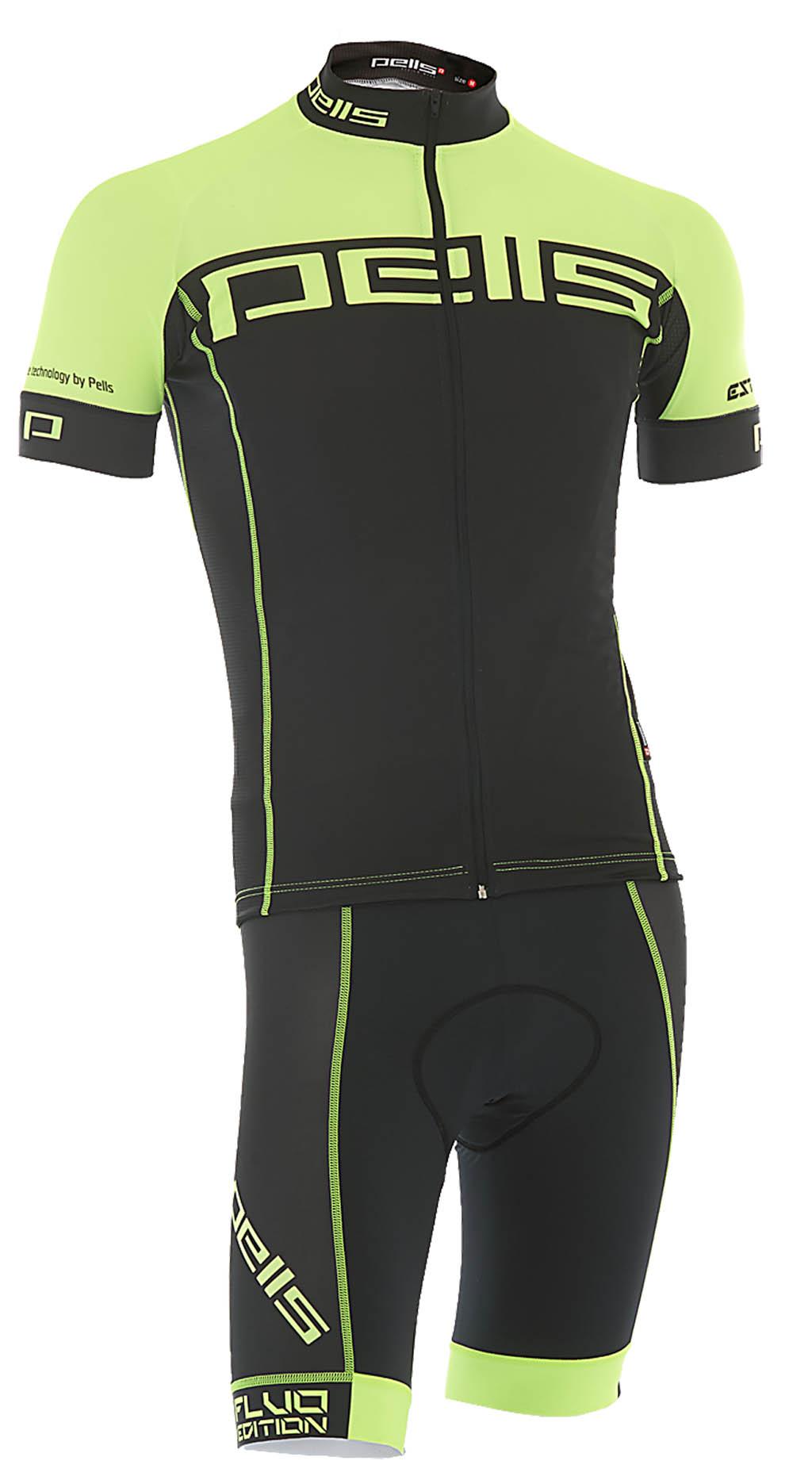 Pánský dres PELL'S FLUO, vel. M, žlutá, krátký rukáv - ZDARMA DOPRAVNÉ! (Pánský cyklistický dres PELL'S, vel. M, krátký rukáv, barva žlutá dle vyobrazení!)