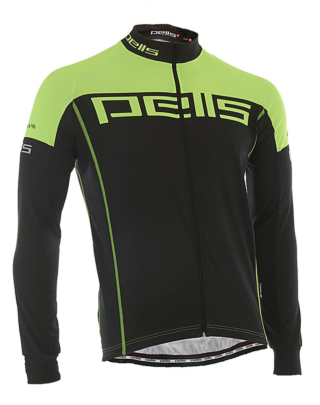 Pánský dres PELL'S FLUO, vel. M, žlutá, dlouhý rukáv - ZDARMA DOPRAVNÉ! (Pánský cyklistický dres PELL'S, vel. M, dlouhý rukáv, barva žlutá dle vyobrazení!)