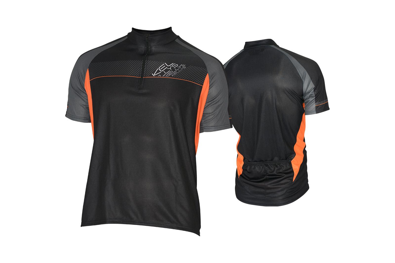 Pánský dres KELLYS PRO Sport, vel. L, černo-oranžová, krátký rukáv (Pánský cyklistický dres KELLYS, vel. L, krátký rukáv, barva černá/oranžová dle vyobrazení!)