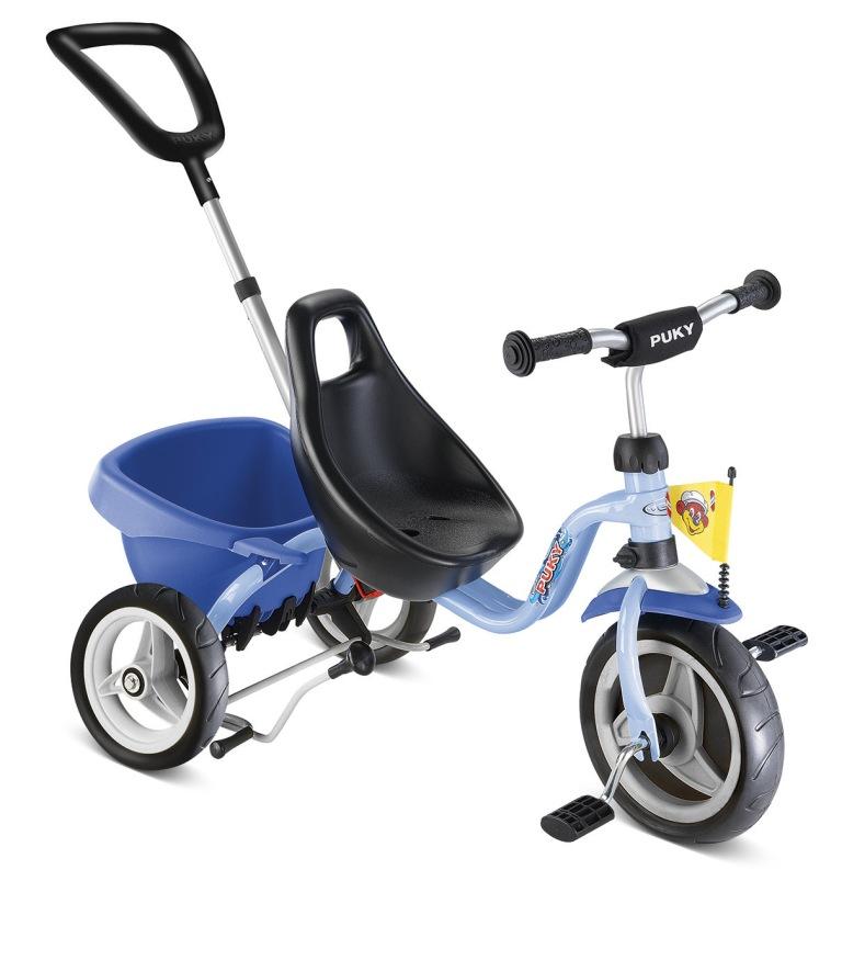 Tříkolka Puky CAT 1S modrá - ZDARMA dopravné a zdravá lahev (barva modrá, CARRY TOURING TIPPER)