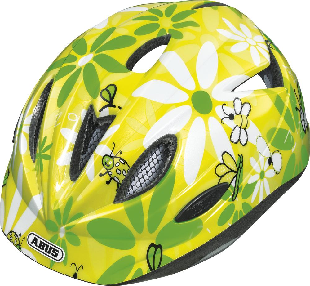 """Dětská cyklistická přilba / helma ABUS Rookie Sun (Velikost """"S"""" pro obvod hlavy 46-52 cm, barva žluto/zelená) - 2013"""
