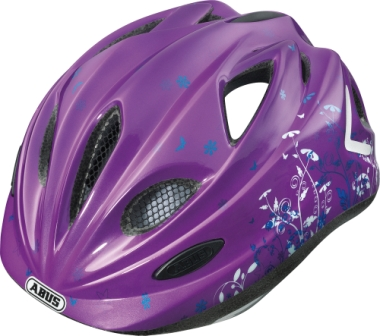 """Dětská cyklistická přilba / helma ABUS Super Chilly Purple (Velikost """"S"""" pro obvod hlavy 46-52 cm, barva fialová) - 2013"""