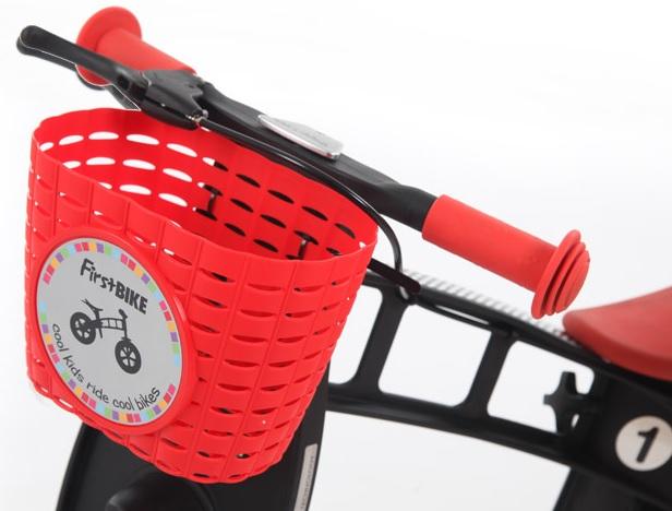 First Bike košík na řídítka červený - ZDARMA Vám ho dodáme při koupi odrážedla F-B