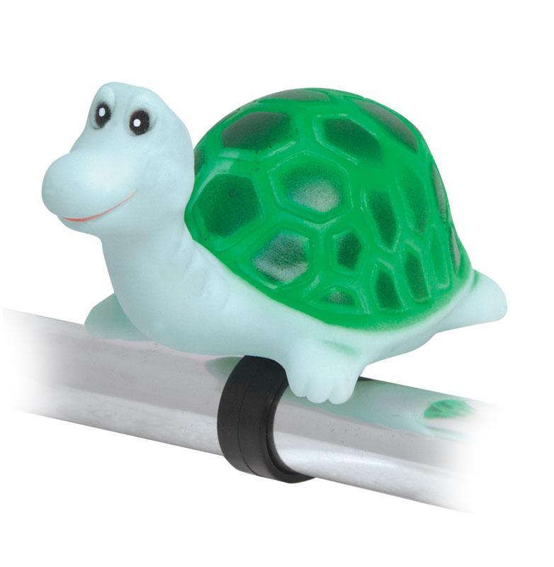 Dětský zvonek, klakson - Želva (dětské gumové pískací zvířátko na řidítka)
