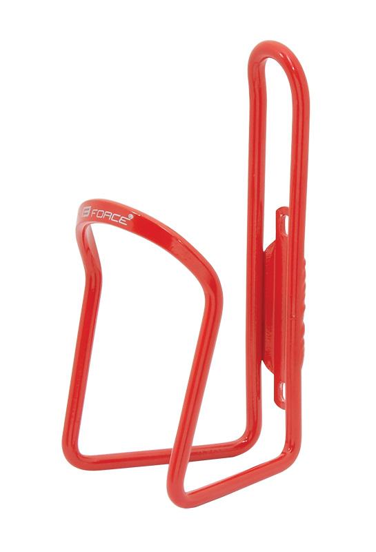 Košík / držák láhve FORCE KLAS hliníkový, červený
