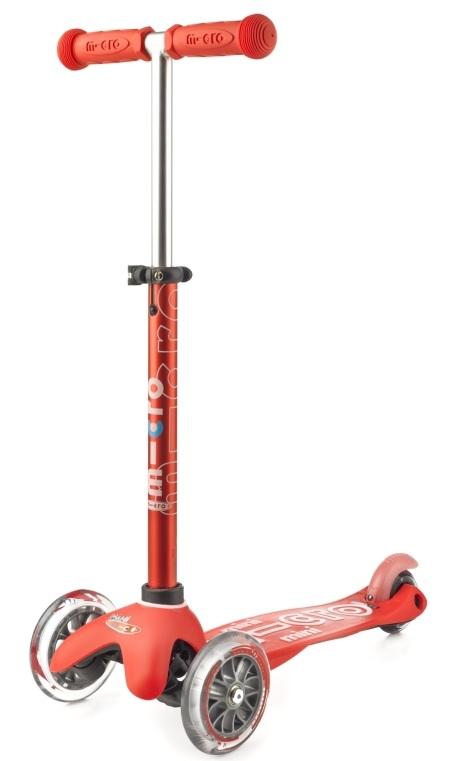 Mini Micro Deluxe Red koloběžka - ZDARMA dopravné a gumový fix (barva červená dle vyobrazení)