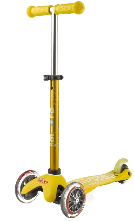 Mini Micro Deluxe Yellow koloběžka - ZDARMA dopravné a gumový fix (barva žlutá dle vyobrazení)