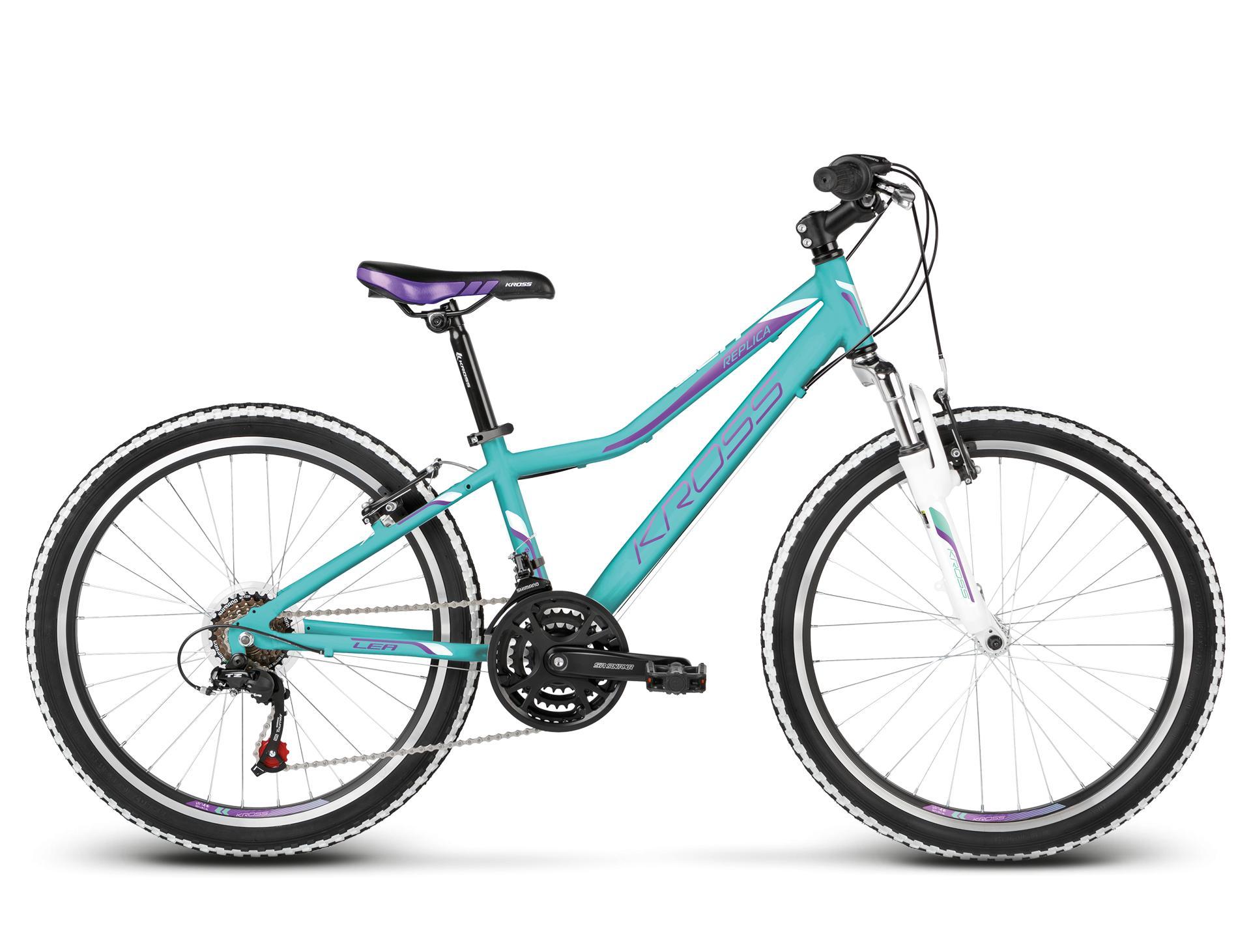 "KROSS 24"" LEA Replica 2018 turquoise/violet glossy"