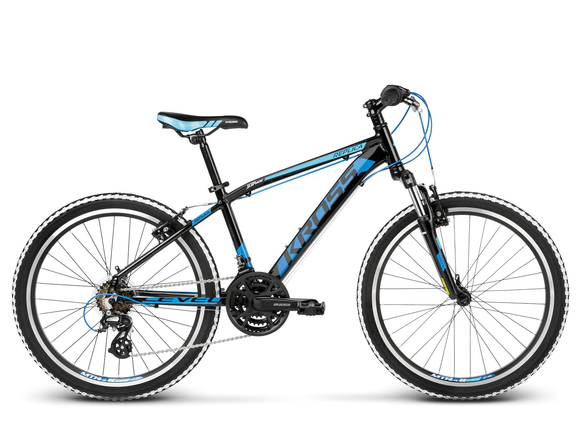 "KROSS 24"" LEVEL Replica 2018 black/blue glossy"