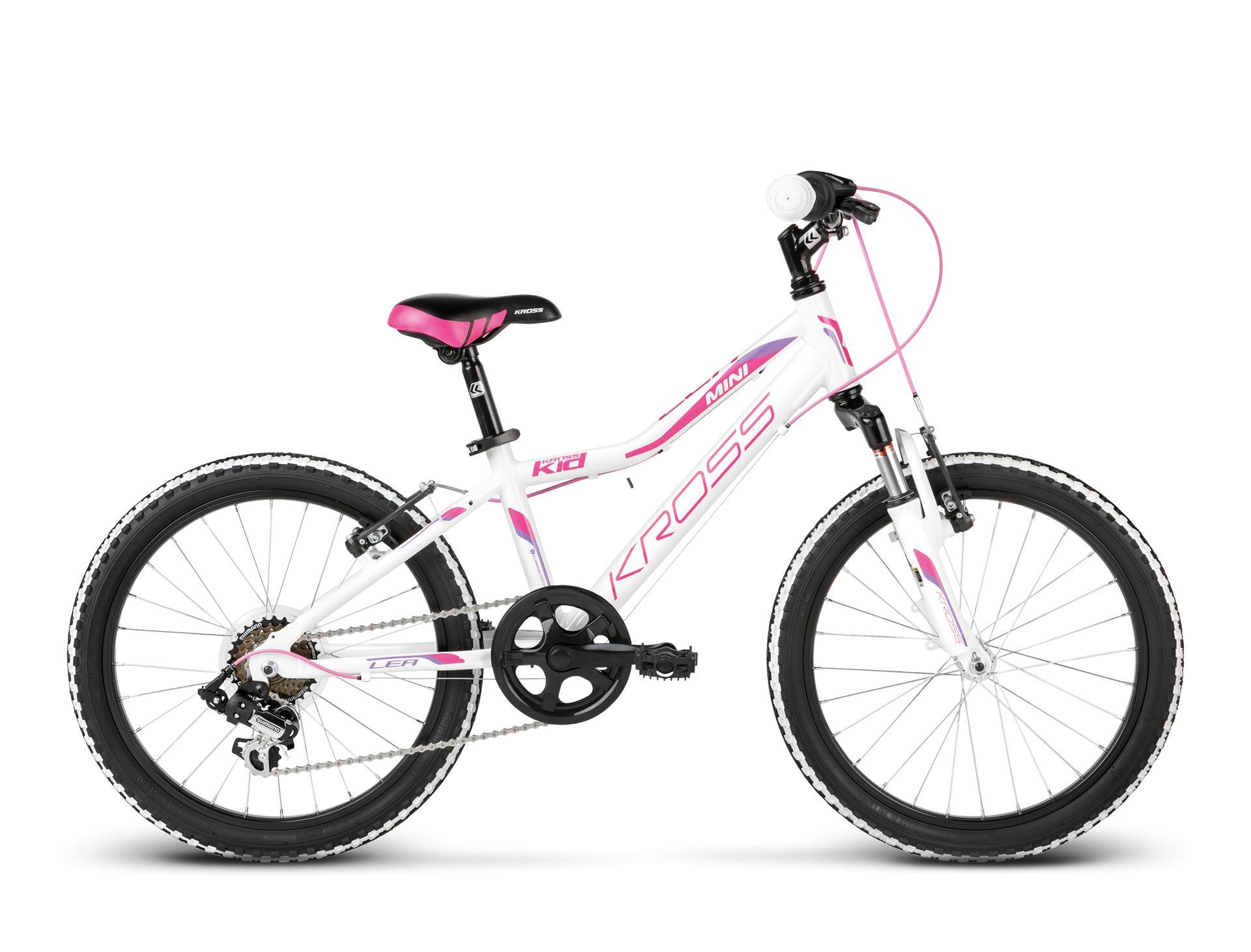 "KROSS 20"" LEA Mini 2018 white/pink/violet glossy"