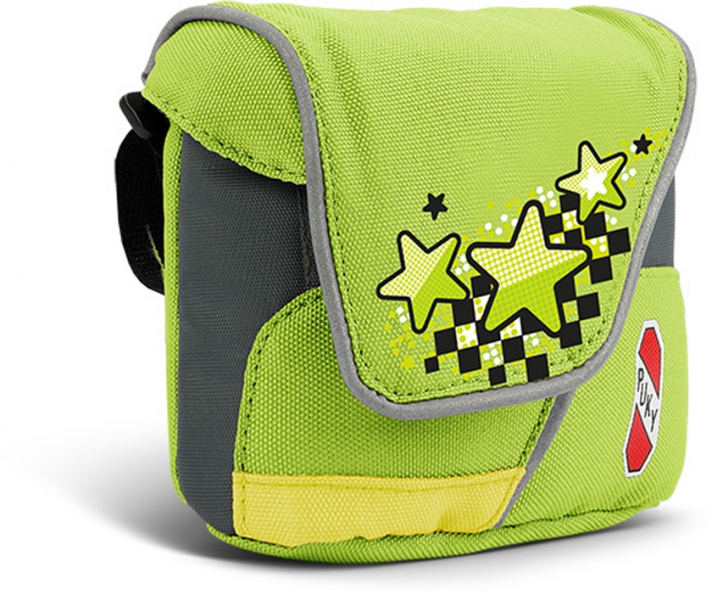 Taška na řídítka Puky LT 1 - barva zelená-kiwi (Pro koloběžky, tříkolky a odrážedla)